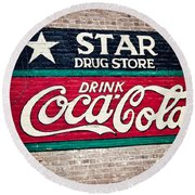 Star Drug Store Wall Sign Round Beach Towel