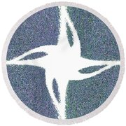 Star Dust Round Beach Towel