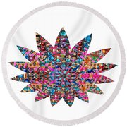 Star Ufo U.f.o. Sprinkled Crystal Stone Graphic Decorations Navinjoshi  Rights Managed Images Graphi Round Beach Towel