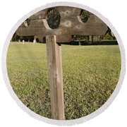 Stockade Ninety Six National Historic Site Round Beach Towel