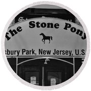 Stone Pony Round Beach Towel