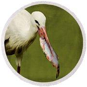 Stork Round Beach Towel
