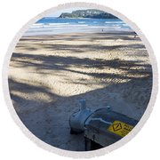 Storm Drainage Pipe On Manly Beach Round Beach Towel