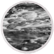 Stream Fall Colors Great Smoky Mountains Painted Bw  Round Beach Towel