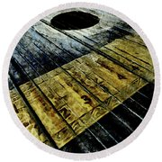 Strings Attached  Round Beach Towel