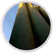 Strong And Tall Round Beach Towel
