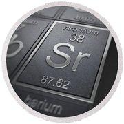 Strontium Chemical Element Round Beach Towel