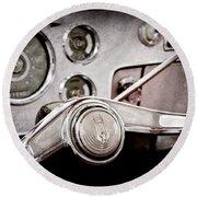 Studebaker Steering Wheel Emblem Round Beach Towel