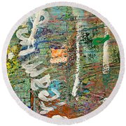Studio Wall Series Untitled Round Beach Towel