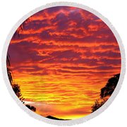 Stunning Sunset Round Beach Towel