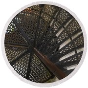 Sturgeon Point Lighthouse Spiral Staircase Round Beach Towel