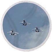 Sukhoi Su-27 Flanker Aircraft Round Beach Towel