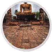 Sukhothai Buddha Round Beach Towel