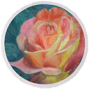 Summer Bloom 1 Round Beach Towel