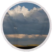 Summer Clouds Round Beach Towel