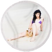Summer Cover Up Round Beach Towel