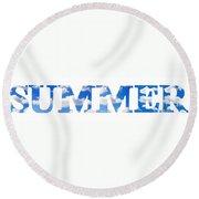 Summer Reflected Round Beach Towel