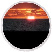 Sun Over Sea  Round Beach Towel