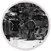 Sun Ra Arkestra Uc Davis Quad 2 Round Beach Towel by Lee  Santa