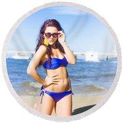 Sun Sand And Sea Leisure Round Beach Towel