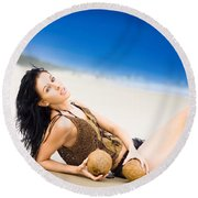 Sunlight Serenity Round Beach Towel