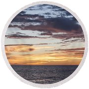 Sunrise Over The Sea Of Cortez Round Beach Towel