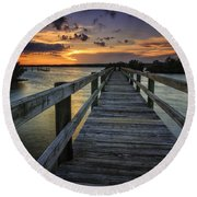 Sunset At Wildcat Cove Round Beach Towel