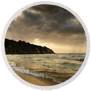Sunset Beach Round Beach Towel