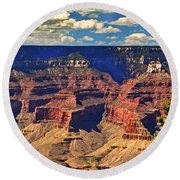Sunset Grand Canyon Round Beach Towel