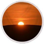 Sunset In The Ox Mountains County Sligo Ireland Round Beach Towel