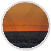 Sunset Round Beach Towel