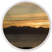 Sunset Over Arran Round Beach Towel