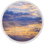 Sunset Sky Round Beach Towel by Elena Elisseeva