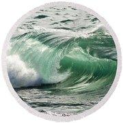 Surf Zone At The Barents Sea Coast Round Beach Towel