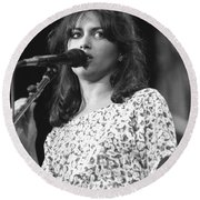 Susanna Hoffs Round Beach Towel