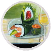 Sushi 5 Round Beach Towel