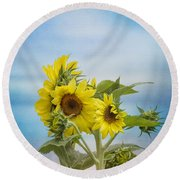 Swaying In The Breeze 2 Round Beach Towel