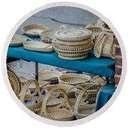 Charleston Sc Sweet Grass Basket Stand Round Beach Towel