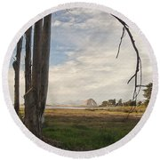 Sweet Water View Round Beach Towel