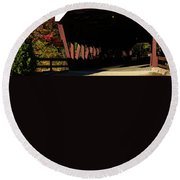 Swift River Covered Bridge Round Beach Towel by Jeff Folger