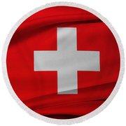 Swiss Flag Round Beach Towel
