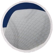 Sydney Opera House Roof Tiles Round Beach Towel