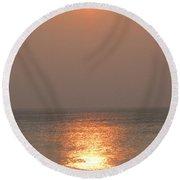 Sylt Sunset 2 Round Beach Towel
