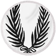 Symbol Achievement Round Beach Towel