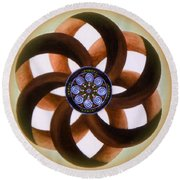 Synergy Mandala 2 Round Beach Towel