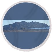 T-33 Shooting Star Flyby Nellis Round Beach Towel