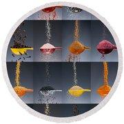 1 Tablespoon Flavor Collage Round Beach Towel by Steve Gadomski