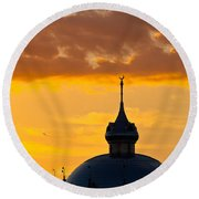 Tampa Bay Hotel Dome At Sundown Round Beach Towel