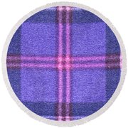 Tartan Pattern Round Beach Towel
