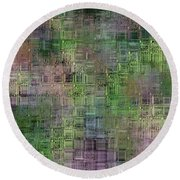 Technology Abstract Round Beach Towel